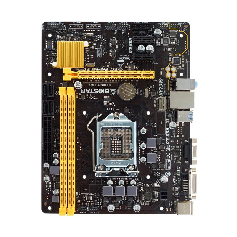 BIOSTAR/映泰 H110MD PRO电脑主板DDR3 1151支持I3 8100 云南电脑批发