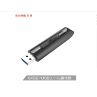 闪迪CZ800 64GB USB3.1 U盘 黑色 可伸缩接口 提供密码保护