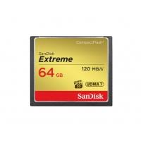 闪迪(SanDisk)32G CF卡64G 128G佳能尼康单反相机内存卡高速800X 摄像存储卡 64G 120M/s至尊极速 UDMA7全高清