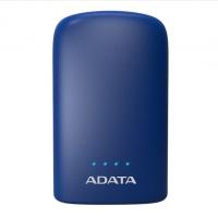ADATA/威刚 P10050V 10050M毫安充电宝手机移动电源双USB接口 带LED照明功能 蓝色
