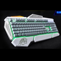 非洲狮G7专业网吧游戏PS口单键盘(灰白色) 云南网吧键盘