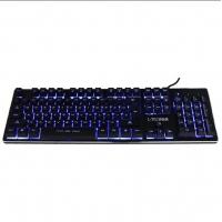 狼技X300三色背光金属悬浮机械手感键盘USB电脑笔记本有线lol游戏