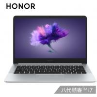 华为 荣耀MagicBook 英特尔酷睿i7 14英寸轻薄窄边框笔记本电脑 i7-8550/8G/256G/MX150-2G/14寸 冰河银