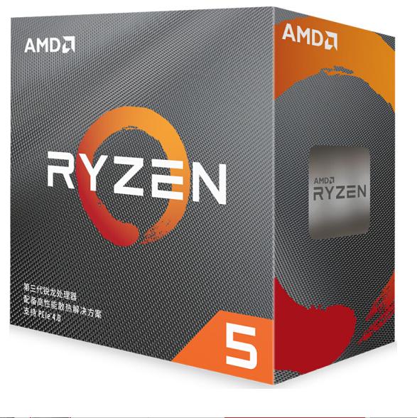 AMD锐龙5 3600 处理器 (r5)7nm 6核12线程 3.6GHz 65W AM4接口 盒装CPU 云南电脑批发