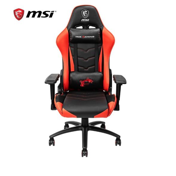 微星(MSI)MAG CH120电竞椅游戏椅办公椅家用主播靠背可躺180°旋转升降扶手 MAG CH120电竞椅 云南电脑批发