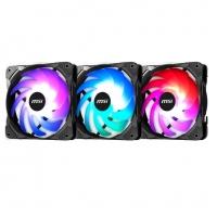 微星 (MSI) 机箱炫光风扇 散热器套装 (PWM智能调速/电脑机箱/风冷/3个12CMARGB风扇)