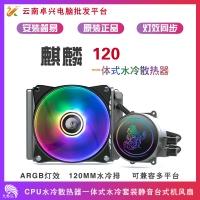 天极风麒麟120 ARGB CPU水冷散热器一体式水冷套装静音台式机风扇多种RGB灯效水冷 天极风麒麟120ARGB