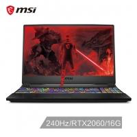 微星(msi)GE65 15.6英寸游戏本240Hz电竞屏(i7-9750H 16G 512GB SSD RTX2060 6G 赛睿单键RGB 黑)(GE65 Raider 9SE-206CN)