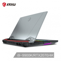 微星(msi)GT76 17.3英寸旗舰游戏笔记本电脑(九代i9-9900K 16G*2 1T+512G *2 SSD RTX2070 8G 4K UHD)黑(GT76 Titan DT 9SF-050CN)