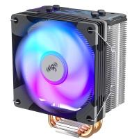 aigo爱国者冰锋400S 风扇CPU散热器RGB炫彩电脑台式机静音多平台散热器