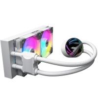 aigo爱国者银河T240 白色 一体式水冷CPU散热器(PWM智能温控风扇/支持多平台/ARGB幻彩灯效/赠硅脂)