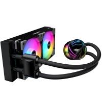 aigo爱国者银河T240 黑色 一体式水冷CPU散热器(PWM智能温控风扇/支持多平台/ARGB幻彩灯效/赠硅脂)
