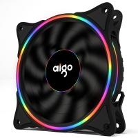 爱国者(aigo) 冰魄彩虹V1 黑色机箱风扇12cm细光圈(支持大4P串联接口/水冷排散热/减震脚垫 )