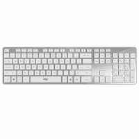 爱国者(aigo)V500无线键盘 静音 105键PC麦拉面板笔记本电脑一体机通用键盘 皓月银