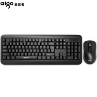 爱国者(aigo)MK1802 无线键鼠套装 台式电脑笔记本办公家用键鼠套装
